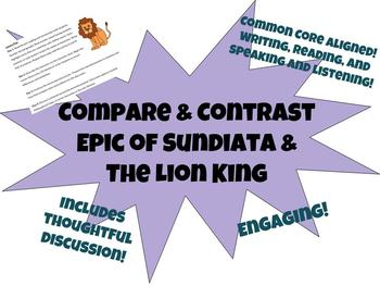 Epic of Sundiata Compare to Lion King