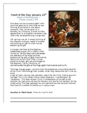 Epiphany Feast of the Day Worksheet