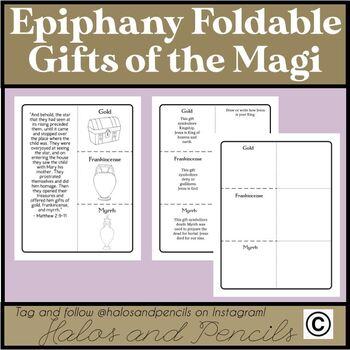 Epiphany Foldable Gifts of the Magi