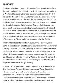 Epiphany Handout