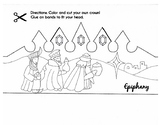Epiphany Three Kings Crown Printable/ Coloring