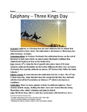 Epiphany - Three Kings Day January 6 history facts information questions review