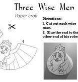 Epiphany Three Kings Paper Dolls