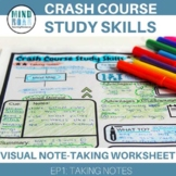 Crash Course Study Skills Visual Note-taking Worksheet: Ep1 Taking Notes