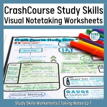 Crash Course Study Skills Visual Note-taking Worksheet: Ep1 Taking Notes