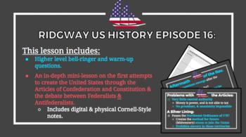 Ridgway US History Epis. 16: The Political Aftermath of the American Revolution