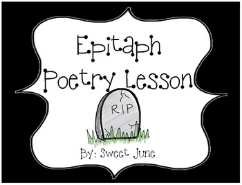 Epitaph Poetry Lesson