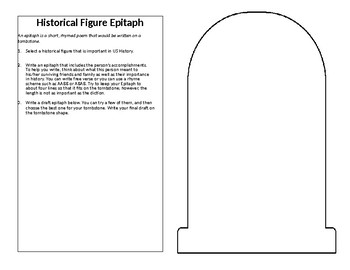 Epitaphs for Important People in US History