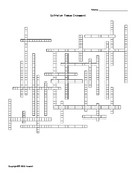 Epithelial Tissue Vocabulary Crossword for Anatomy Students