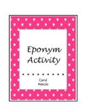 Eponym * Activity For French, German, Italian, Spanish