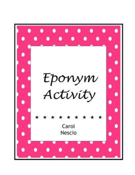 Spanish Eponym Activity For French German Italian