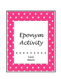 Eponym * Activity For French, German, Italian, Spanish