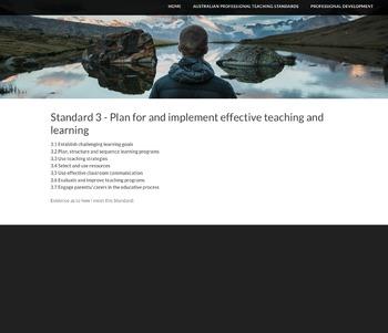 Eportfolio - Australian Professional Teaching Standards
