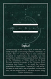 Equal - Math Poster