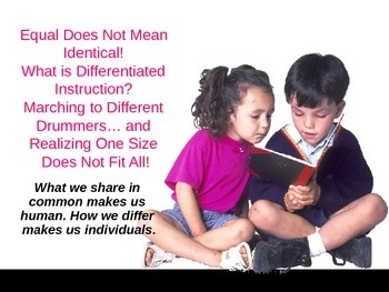 Equal Does Not Mean Identical: What is Differentiated Inst