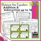 Balance the Equation - Equal Equations Adding and Subtracting