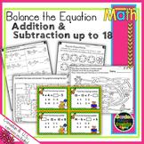 Balance the Equation - Equal Equations Adding and Subtracting