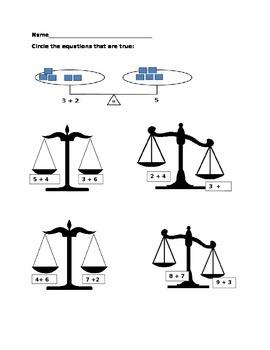Equal Equations; Not Equal Equations