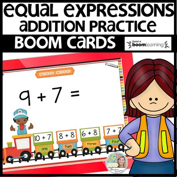 Equal Expressions BOOM CARDS Distance Learning FREEBIE