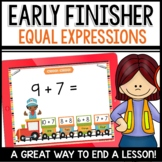Equal Expressions |Addition | Early Finisher Activity