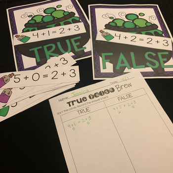 True False Brew: Balancing Equations Math Center!