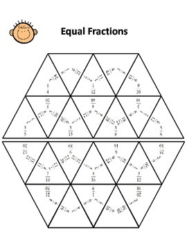 Equal Fractions Cooperative Learning Pack