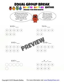 Equal Group Break: Multiplication