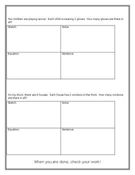 Equal Group Worksheet