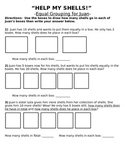 Equal Grouping Worksheet