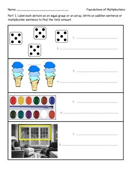 Equal Groups, Arrays, Odd/Evens Test - 2nd Grade Common Core Aligned