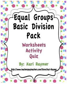 Equal Groups Basic Division Pack
