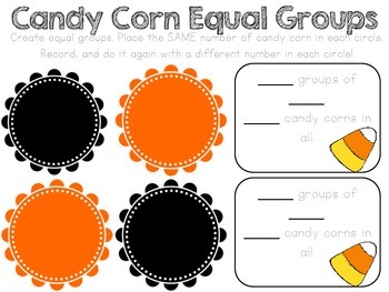 Equal Groups - Candy Corn