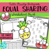Equal Groups - Division - Fair Sharing -  Worksheet Pack - Distance Learning