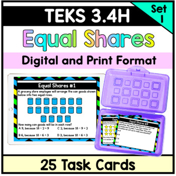 Equal Groups Division with Whole Numbers - TEKS 3.4H