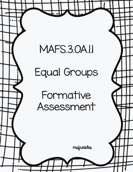 Equal Groups- MAFS.3.OA.1.1