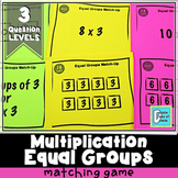 Multiplication Equal Groups Matching Activity Game
