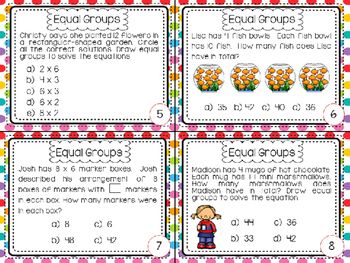 Equal Groups Multiplication FSA Task Cards