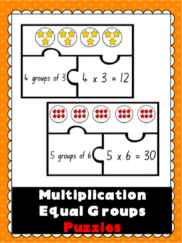 Equal Groups Multiplication Puzzles