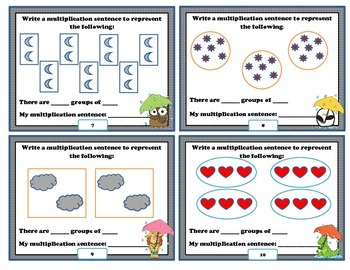 Equal Groups- Multiplication Task Cards