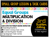 Equal Groups Multiplication and Division Task Cards & Lesson by Marvel Math