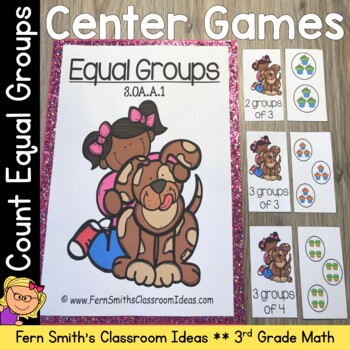 3rd Grade Go Math 3.1 Equal Groups Quick and Easy To Prep Center Games