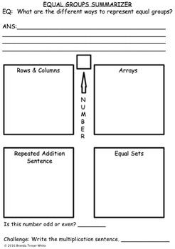 Equal Groups Summarizer 2.OA.4 3.OA.3