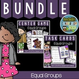 3rd Grade Go Math 3.1 Equal Groups Task Cards and Centers Bundle