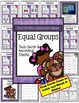 Equal Groups Task Cards, Recording Sheets, Centers and Pri