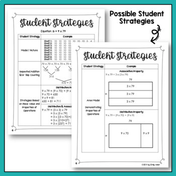 Equal Groups and Area Multiplication Word Problems and Discussion Guide Fall