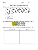 Equal Groups and Arrays 4 Quiz Bundle