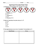 Equal Groups and Arrays Quiz Version 3
