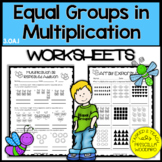 Equal Groups in Multiplication 3rd Grade {3.OA.1}