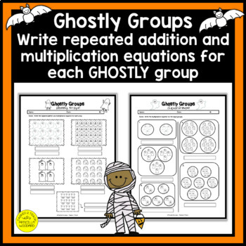 Equal Groups in Multiplication 3rd Grade Halloween Happenings {3.OA.1}