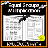 Equal Groups in Multiplication | 3rd Grade Halloween Math